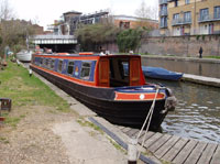 one of our narrowboats, the Pirate Viscount