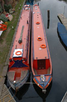 Our two narrowboats