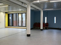 The interior of our new main hall